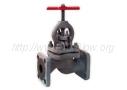 Вентиль чугунный запорный проходной с уплотнением из фторопласта фланцевый 15ч9п2, 15кч19п (Ру-16)