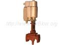 Вентиль из ковкого чугуна запорный проходной фланцевый с электр. приводом и электромагнитной защелкой серии СВВ 15кч892п3м (Ру-6,3, 16)