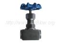 Вентиль запорный проходной игольчатый с наружной резьбой на одном конце и внутренней на другом 15нж54бк (Ру-160)