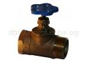 Вентиль пожарный запорный с муфтовым и цапковым присоединительными концами 1Б1р (Ру-10)
